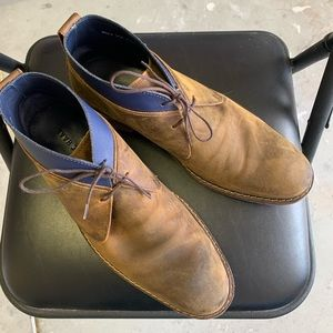 Cole Haan Brown Leather / Blue Trim Shoes/Low Boot